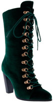 Penny Loves Kenny Women's Argent Velvet Lace Up Boot