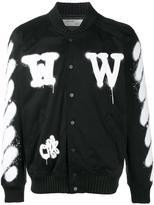 Off-White spray paint bomber jacket - men - Cotton/Spandex/Elastane/Viscose - XL
