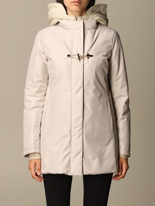 Fay Jacket Double Front Nylon Jacket With Padded Hood
