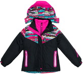 Big Chill Black Abstract System Jacket - Girls