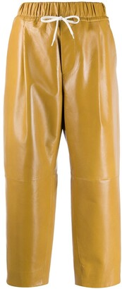 Givenchy drawstring waist cropped trousers