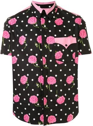 Paco Rabanne Floral Polka Dot Print Shirt