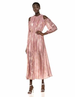 Moon River Women's Cold Shoulder Long Dress