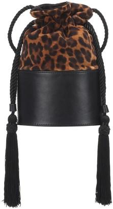 Hunting Season Exclusive to Mytheresa The Lola Small leopard-print abucket bag