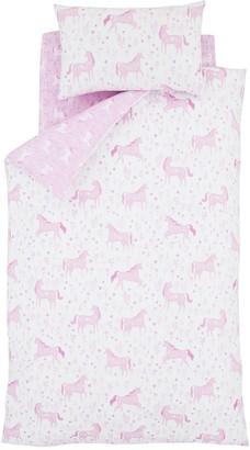 Catherine Lansfield Folk Unicorn Duvet Cover Set