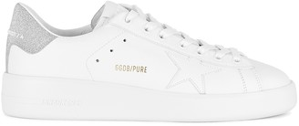 Golden Goose Pure Star white leather sneakers