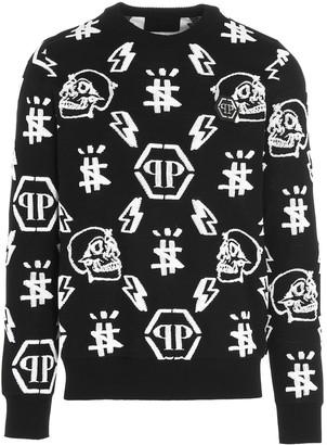 Philipp Plein Monogram Patterned Knitted Sweater
