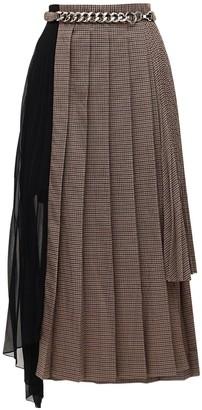 Rokh Asymmetrical Pleated Midi Skirt