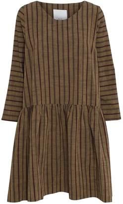 Mcverdi Striped Dress With Loose Fit & Low Cut