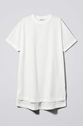 Weekday Lombard T-Shirt Dress - White