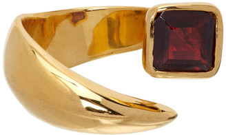 Alan Crocetti Gold and Burgundy Garnet Ring