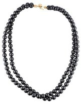 Stella McCartney Crystal-Pearl Two-Strand Necklace