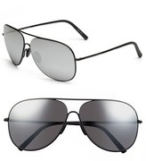 Porsche Design Men's 'P8605' 64Mm Aviator Sunglasses - Black