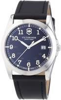 Victorinox Men's Infantry 241584 Black Leather Swiss Quartz Watch