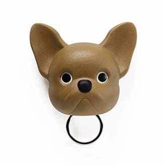 Qualy - Keys Holder Wall Mounted Frenchy Dog In Brown