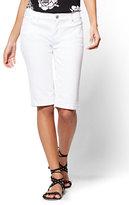 New York & Co. Soho Jeans - Bermuda Short - White