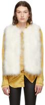 Yves Salomon White Feather Vest