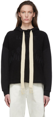 Loewe Black Embroidered Hoodie