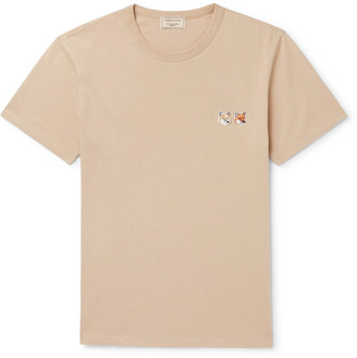 MAISON KITSUNÉ Logo-Appliqued Cotton-Jersey T-Shirt
