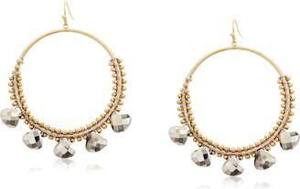 Panacea Hematite Crystal Hoop Earrings