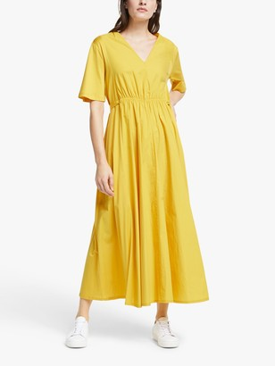 Max Mara Weekend Bairo Cotton Maxi Dress, Yellow
