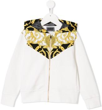 Versace baroque panel print hoodie