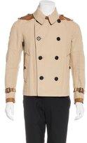 Belstaff Leather-Trimmed Linen Jacket