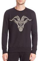 Markus Lupfer Chain Ram Embroidered Sweatshirt