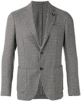Lardini houndstooth pattern blazer - men - Silk/Cotton/Cupro/Viscose - 48