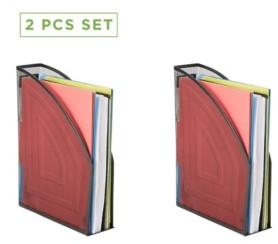 Mind Reader 2 Piece Mesh Magazine File Box