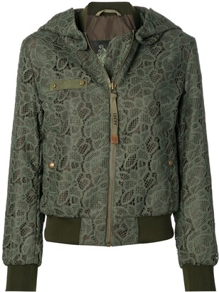 Mr & Mrs Italy Lace Embroidered Bomber Jacket