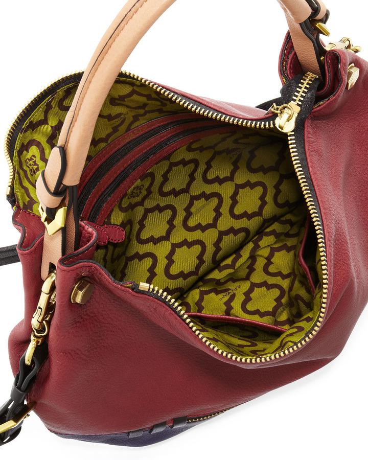 Oryany Olivia Colorblock Convertible Hobo Bag, Cabernet Multi