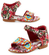 Dolce & Gabbana Grip-Strap Mambo Sandal, Multicolor, Infant/Toddler
