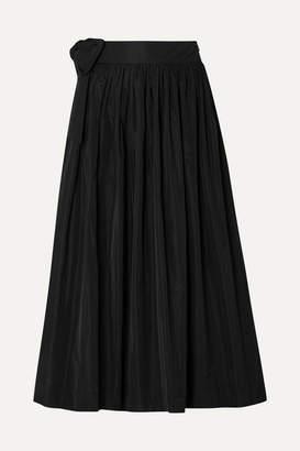 Molly Goddard So Hee Tie-detailed Gathered Taffeta Midi Skirt - Black