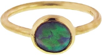 Irene Neuwirth Lightning Ridge Opal Stacking Ring