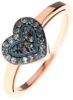 Latelita London - Diamond Mini Heart Rosegold Ring