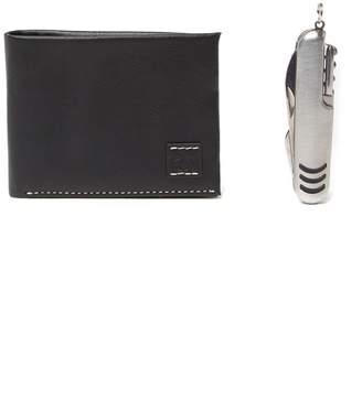Original Penguin Leather Bi-Fold Wallet with Pocket Multi-Tool
