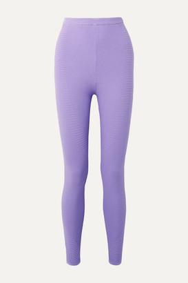Adam Selman Ribbed Stretch-knit Leggings