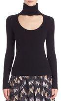 Diane von Furstenberg Gracey Cutout Turtleneck Sweater