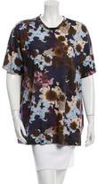 Versace Floral Print Short Sleeve Top