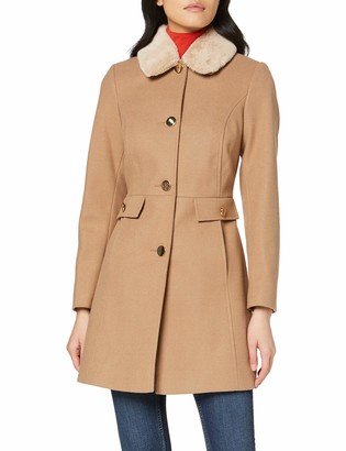 Dorothy Perkins Women's Fur Collar Dolly Camel. Coat