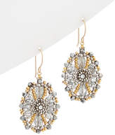 Miguel Ases 14K & Silver Pyrite & Crystal Drop Earrings