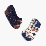 Madewell Two-Pack Southwest Low Profile Socks