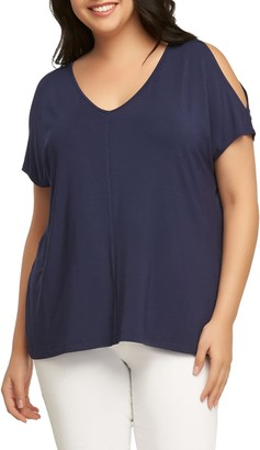 Tart Rocky Cold Shoulder Top (Plus Size)