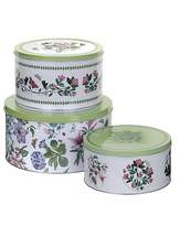 Portmeirion Botanic Garden Set Of Three Cake Tins