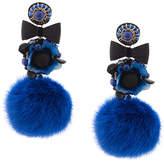 Ranjana Khan pompom earrings