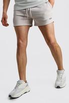 boohoo Mens Beige Original MAN Short Length Jersey Shorts, Beige