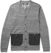 Junya Watanabe - Slim-fit Felt-trimmed Mélange Cotton Cardigan