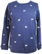 Zoe Karssen cartoon Eyes All Over Peacot Sweatshirt