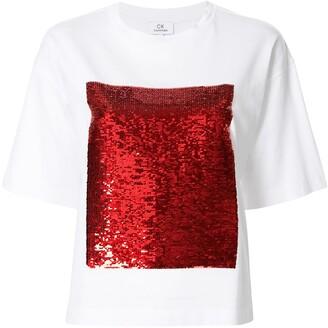 CK Calvin Klein sequin embellished T-shirt